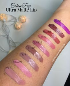 ColourPop Ultra Matte Lip Swatches with Flash